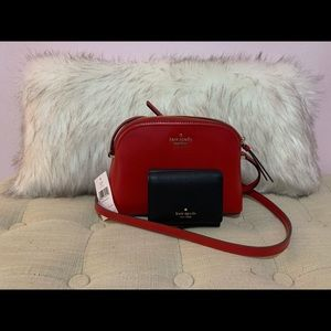 Red Kate Spade Purse & Black Trifold Wallet